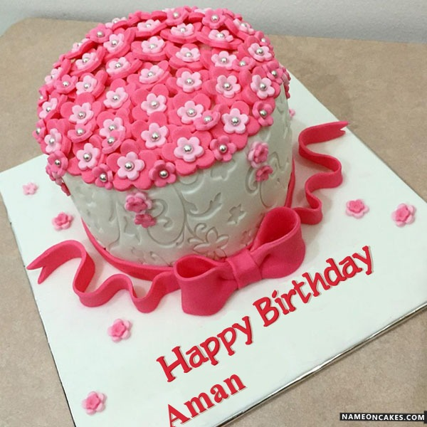 Happy Birthday Aman Cake Images Birthday wish with name.friends and all those who love his someone. happy birthday aman cake images