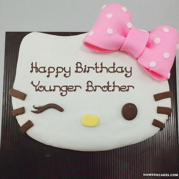 Happy Birthday younger brother Cake Images
